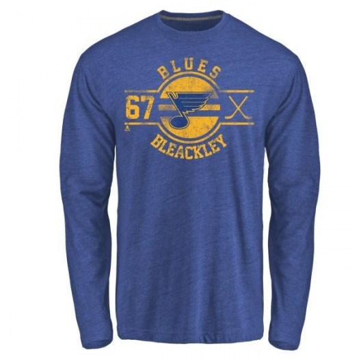 Conner Bleackley St. Louis Blues Youth Royal Insignia Tri-Blend Long Sleeve T-Shirt -